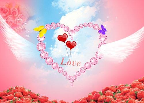 Красивые картинки про любовь поцелуи